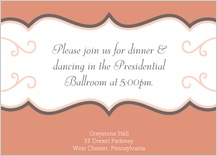 Reception Card - tres chic
