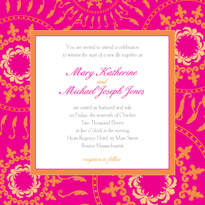 Wedding Invitation - Circles of Love