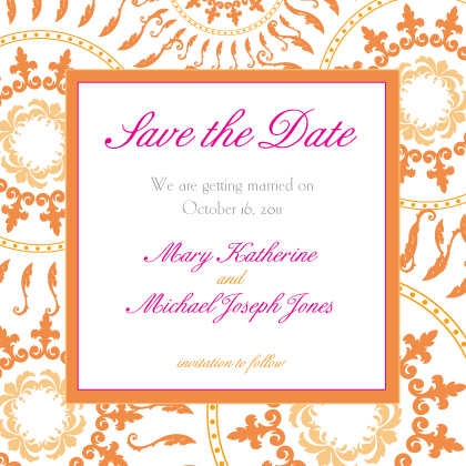 Save the Date Card - Circles of Love