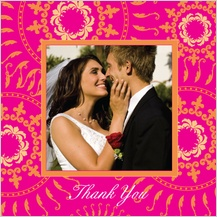 Wedding Thank You Card with photo - Circles of Love