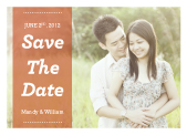 Save the Date Card with photo - The Mandy