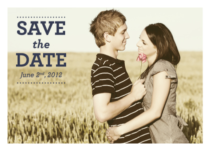Save the Date Card with photo - The Tara