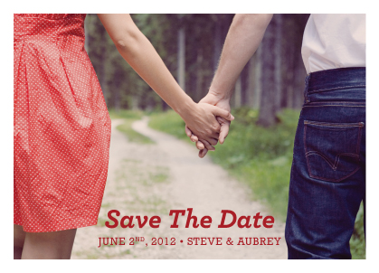 Save the Date Card with photo - The Aubrey