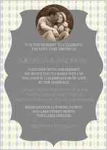 Wedding Invitation with photo - classic argyle