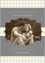 Save the Date Card with photo - classic argyle