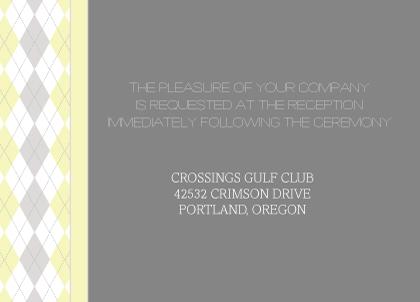 Reception Card - Classic Argyle