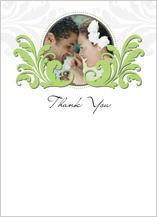 Wedding Thank You Card with photo - foliole