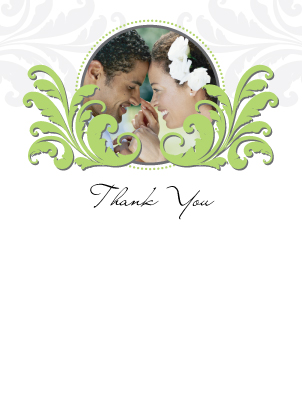 Wedding Thank You Card with photo - Foliole