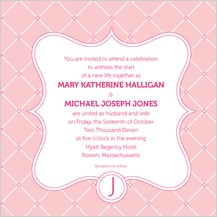 Wedding Invitation - modern lattice
