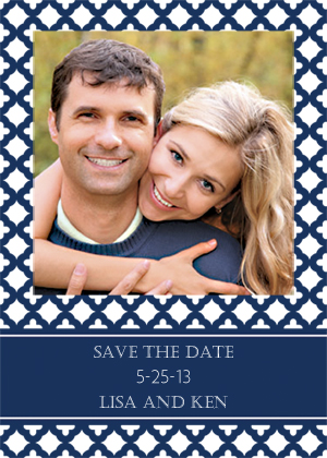 Save the Date Card with photo - Wedding Trellis