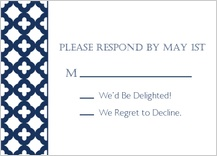 Response Card - wedding trellis