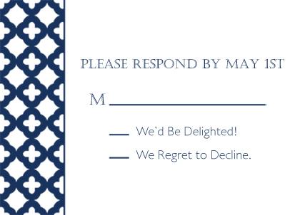 Response Card - Wedding Trellis