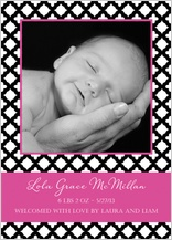 Birth Announcement with photo - baby trellis
