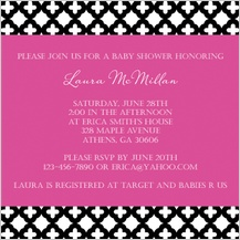 Baby Shower Invitation - baby trellis