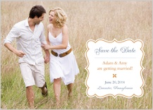 Save the Date Card with photo - eleganza