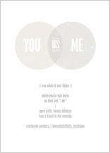 Wedding Invitation - you, me, us