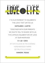 Wedding Invitation - all my love, all my life
