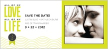 Save the Date Card with photo - all my love, all my life