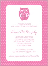 Baby Shower Invitation - owl baby