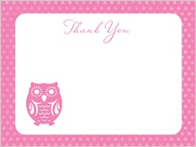 Baby Thank You Card - owl baby