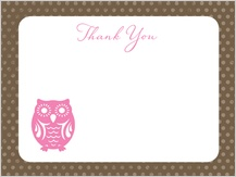 Thank You - owl thanks