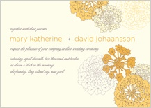 Wedding Invitation - sunrise roses