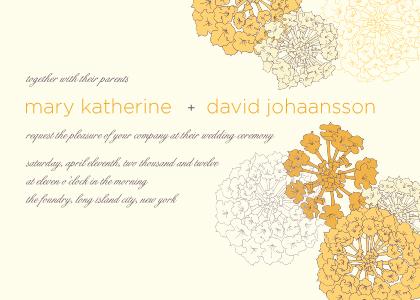 Wedding Invitation - Sunrise Roses