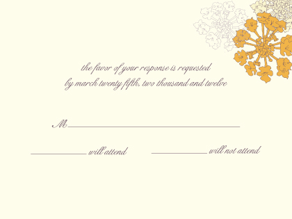 Response Card - Sunrise Roses