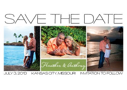 Save the Date Card with photo - Nifty - Save the Date