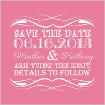 Save the Date Card - darling - save the date