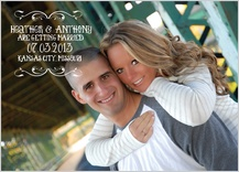 Save the Date Card with photo - baby - save the date