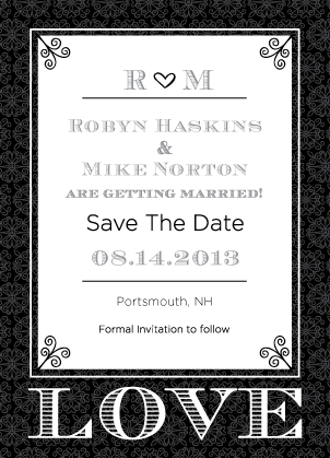 Save the Date Card - Love