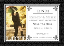 Save the Date Card with photo - love