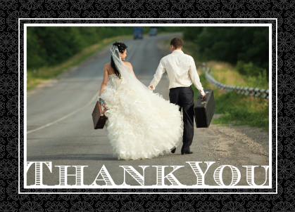 Wedding Thank You Card with photo - Love