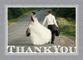 Wedding Thank You Card with photo