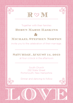 Wedding Invitation - Love