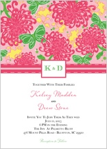 Wedding Invitation - floral splash