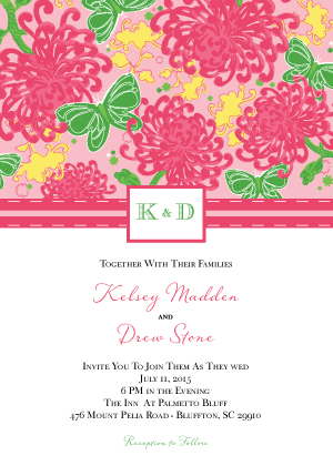 Wedding Invitation - Floral Splash