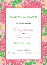 Save the Date Card - floral splash