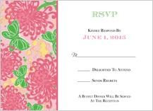 Response Card - floral splash