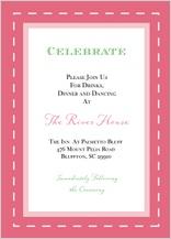 Reception Card - floral splash