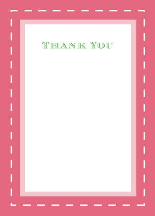 Wedding Thank You Card - Floral Splash