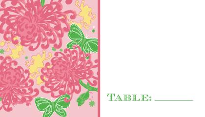 Place Card - Floral Splash