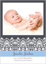 Birth Announcement with photo - sweet pea