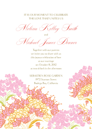 Wedding Invitation - Queen Anne's Lace