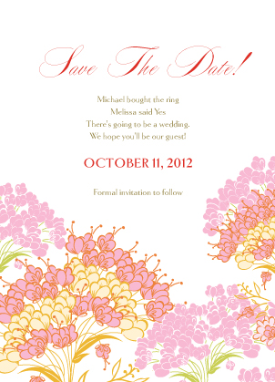 Save the Date Card - Queen Anne's Lace