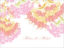 Wedding Thank You Card - queen anne's lace