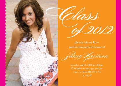 Graduation Party Invitation - Orange ya glad you did it