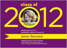 Graduation Party Invitation - ribbon of success