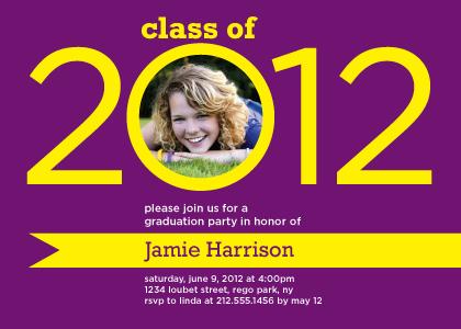 Graduation Party Invitation - Ribbon of success
